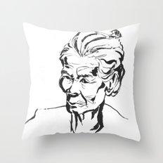 Old women Throw Pillow