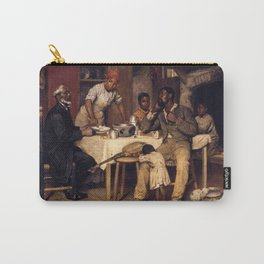 African American Masterpiece 'A Pastoral Visit' by Richard Norris Brooke Carry-All Pouch