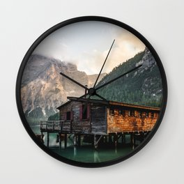 Lago di Braies Wall Clock