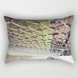 The Fences on a Rainy Day in New York City Rectangular Pillow