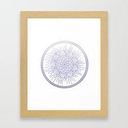 Lavender Nature Mandala Framed Art Print