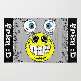 FREAKIN' Big Smile Emoticon! Rug