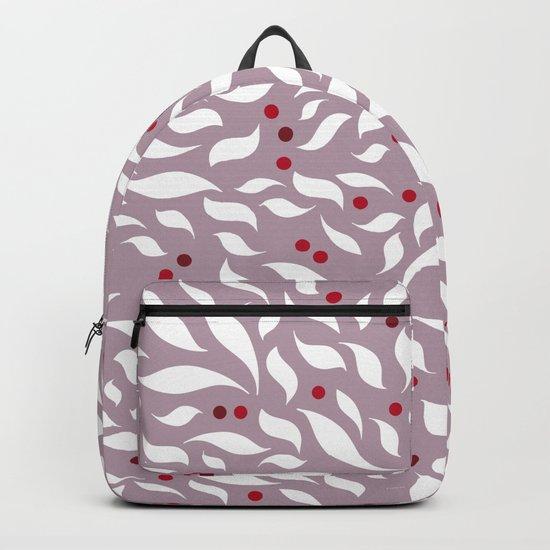 White Leaves Backpack