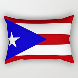 puerto rico country flag star Rectangular Pillow