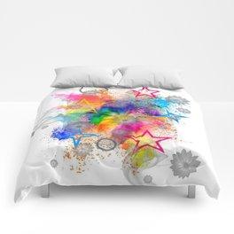 Color blobs by Nico Bielow Comforters