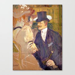 "Henri de Toulouse-Lautrec ""The Englishman (William Tom Warrener, 1861–1934)"" Canvas Print"