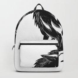 Angry Wild Hog Razorback Scratchboard Backpack