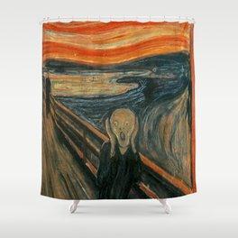 THE SCREAM - EDVARD MUNCH Shower Curtain