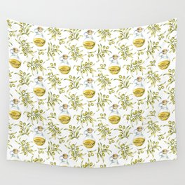 olive oil pattern Wall Tapestry