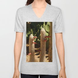 A Funny Sight Cacti Unisex V-Neck