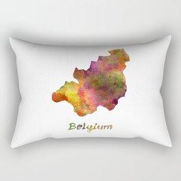 Belgium in watercolor Rectangular Pillow