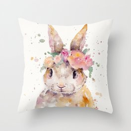 Little Bunny Throw Pillow