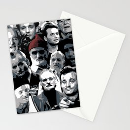 The many faces of Bill Murray Stationery Cards