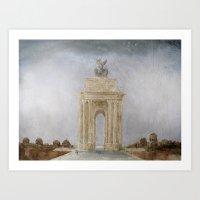 Wellington Arch London  Art Print