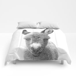 Black and White Baby Donkey Comforters