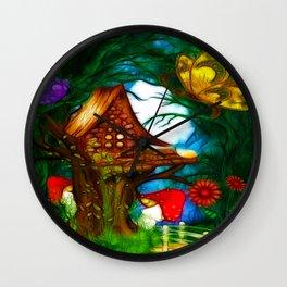 MuShroom Valley Whimsical Fantasy Wall Clock