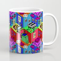 gamer Mugs featuring Gamer by Ryan GoldLion