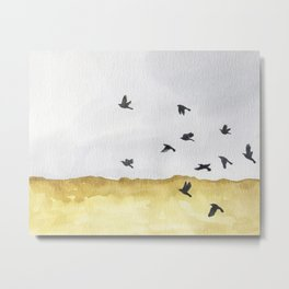 Autumn Crows Metal Print