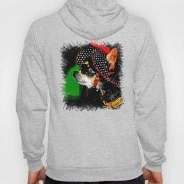 classy chihuahua dog lady vector art Hoody