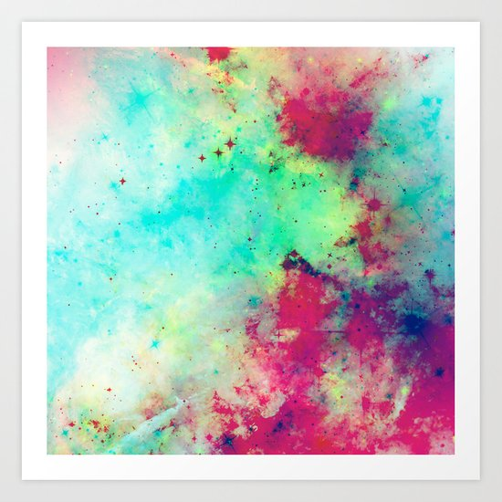 Join The Heavens - Abstract Space Painting Art Print