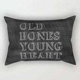 Old Bones Young Heart Rectangular Pillow