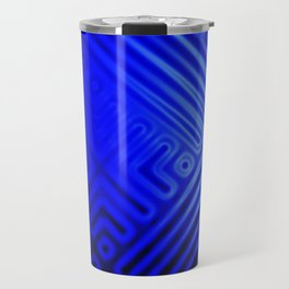 Blue Grid Travel Mug