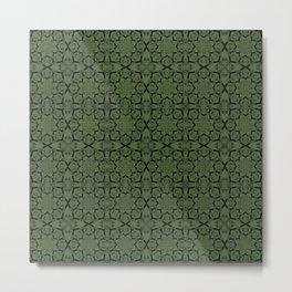 Kale Geometric Metal Print