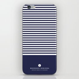 Blue stripes by Brendon Berisha iPhone Skin