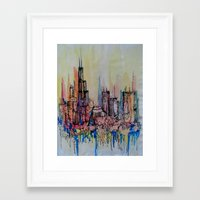 chicago Framed Art Prints featuring Chicago by silvsstang