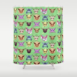Eeveelutions Green Shower Curtain