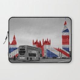 Big Ben, London Bus and Union Jack Flag Laptop Sleeve
