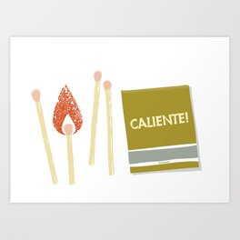 You play with fire, you get scorched! Art Print