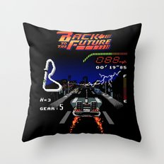 Back to the Videogame Throw Pillow