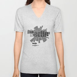 Berlin Map Unisex V-Neck