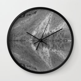 Silver Landscape At Lake Bohinj Wall Clock