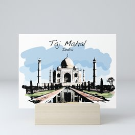 Taj Mahal Agra India Mini Art Print