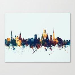 Worcester England Skyline Canvas Print