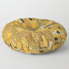 All the World is Gold symbolist portrait painting by Gustav Klimt Floor Pillow