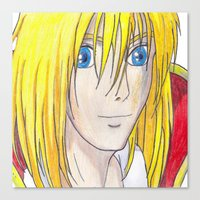 howl Canvas Prints featuring Howl by ArtByHallie