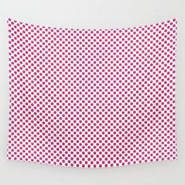 Pink Yarrow Polka Dots Wall Tapestry