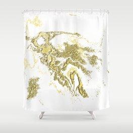 Golden splashed melody Shower Curtain