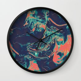 Adrift - Abstract Suminagashi Marble Series - 05 Wall Clock