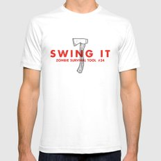 Swing it - Zombie Survival Tools SMALL White Mens Fitted Tee