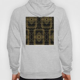 """A Very Private Affair"" Art Deco Gold Geometric Pattern Hoody"