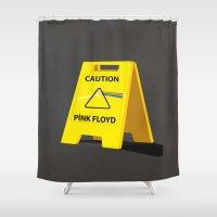 floyd Shower Curtains featuring Pink Floyd by gunberk
