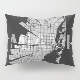 Miami Map Pillow Sham