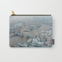 Snowy London Carry-All Pouch