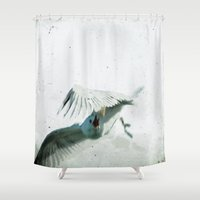 wings Shower Curtains featuring Wings by Bella Blue Photography