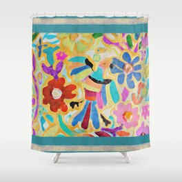 guadalupe botánico Shower Curtain