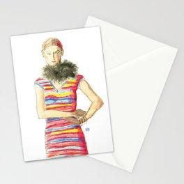 Striped Dress Stationery Cards
